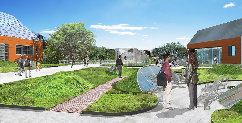 Chatham University Academic Buildings and Bridge Rendering