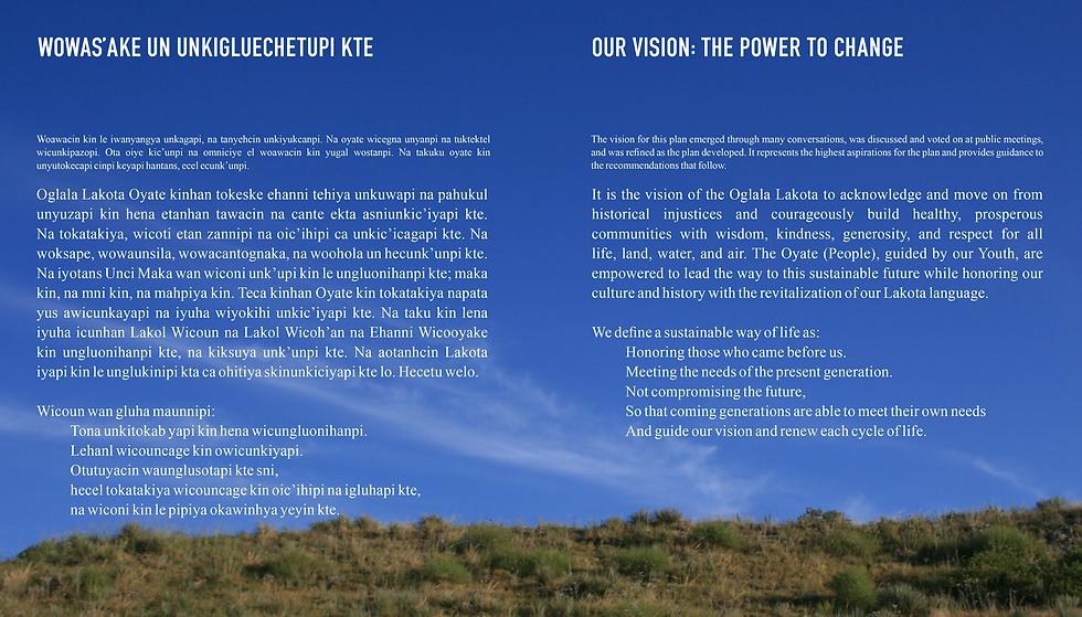 Oglala Lakota Regional Plan Vision Pages