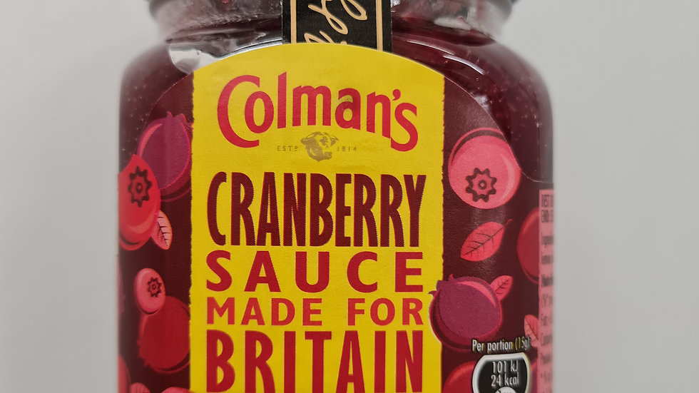 Colemans cranberry sauce 165g