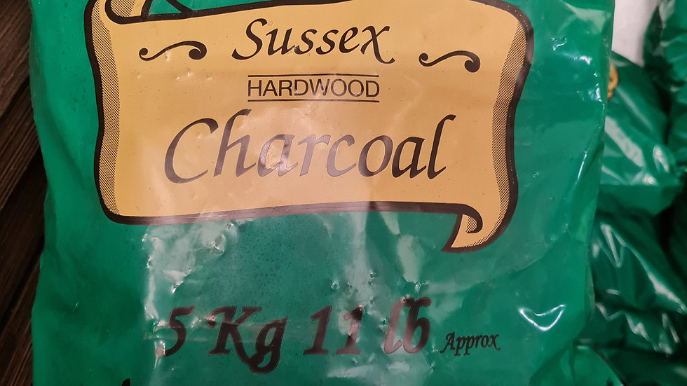 Local sussex hardwood (climping) charcoal 5kg )
