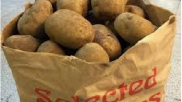 SACK muddy Potatoes 25kg