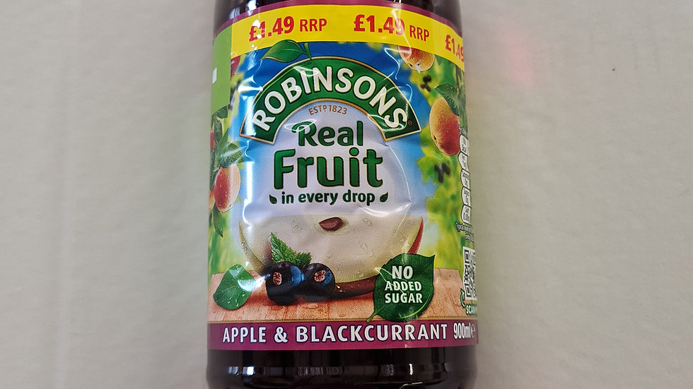 Apple and blackcurrant squash 900ml