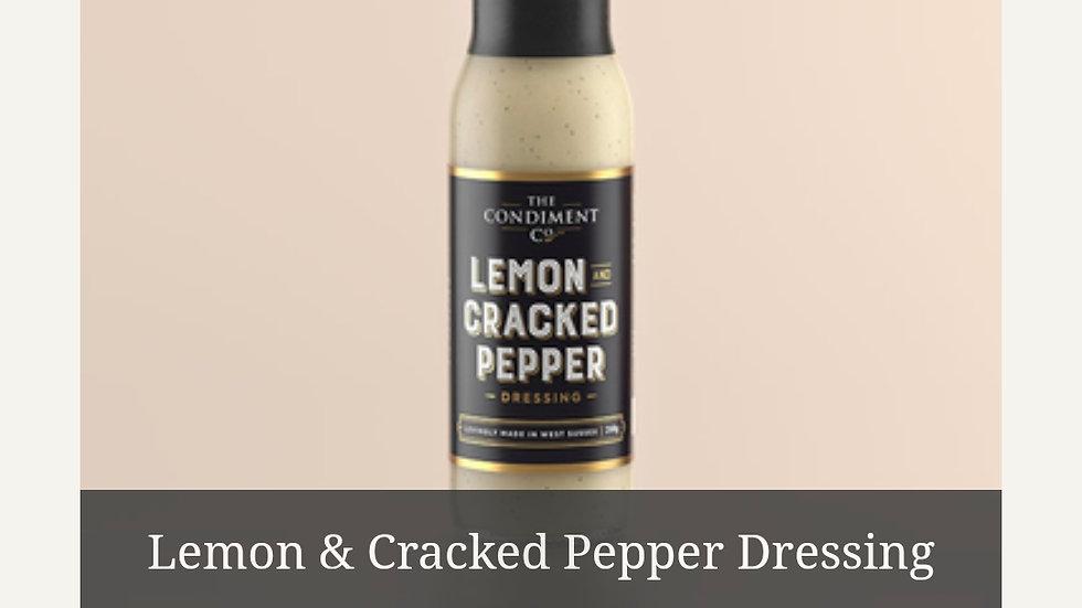Lemon and cracked black pepper dressing 240g