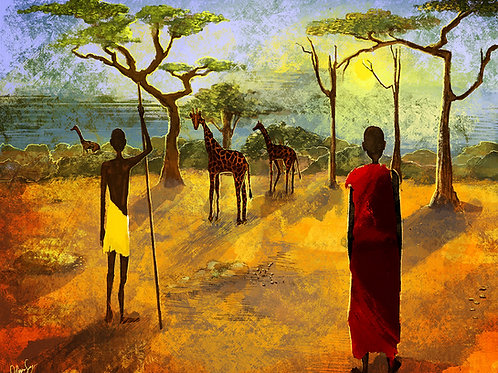 "Print - ""African Plain"""