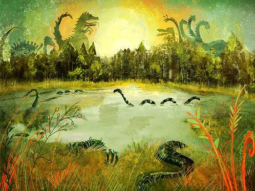 "Print- ""Monster Lake"""