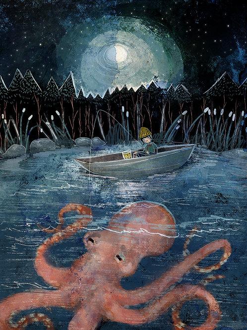 """Print- """"Night Fishing"""""""