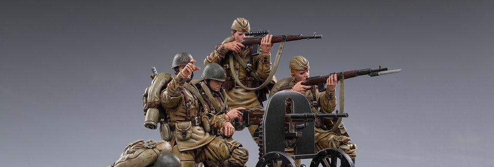 JOYTOY  WWII Soviet Infantry 1/18 Scale set of 5
