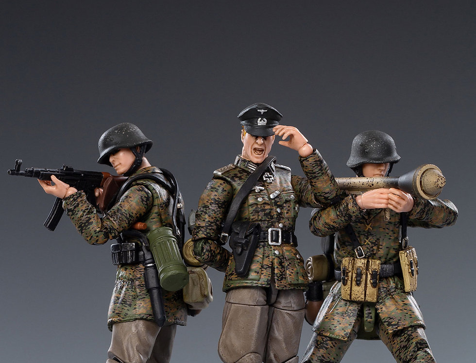 Joy Toy Scale  1/18 Scale Spring Camouflage Wehrmacht Set of 3