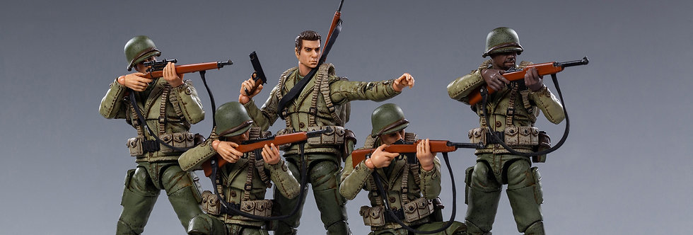 JOY TOY WWII US ARMY Military  1/18 Scale Set of 5