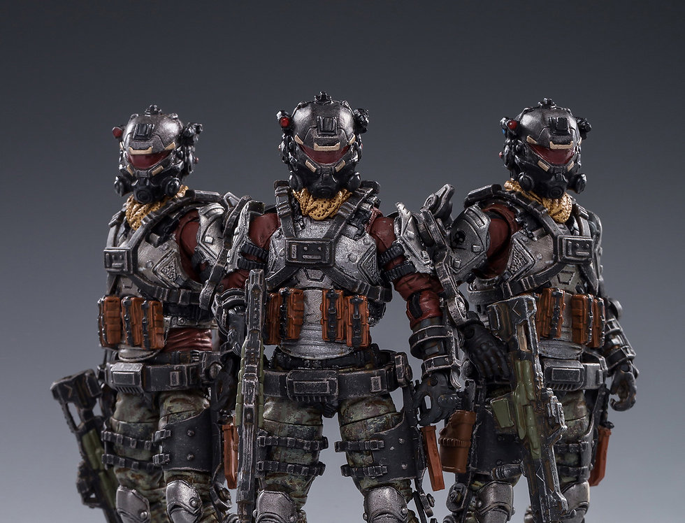 Joy Toy Hardcore Coldplay Skeleton Force Twin Sickle Team 1/18 Scale Set