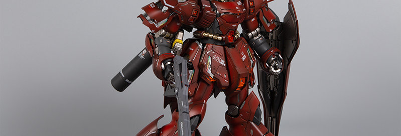 BANDAI Built & Painted MSN-04 Sazabi Version Ka 1/100 Master Grade