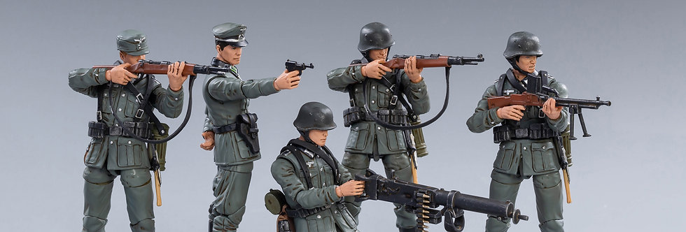 Joy Toy Scale 1/18 WWII Germany Wehrnacht Set of 5