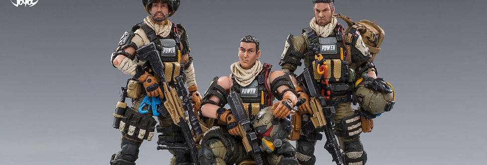 Joy Toy Hardcore Coldplay Hell Skull Paratrooper Squad 1/18 Scale Figure Set