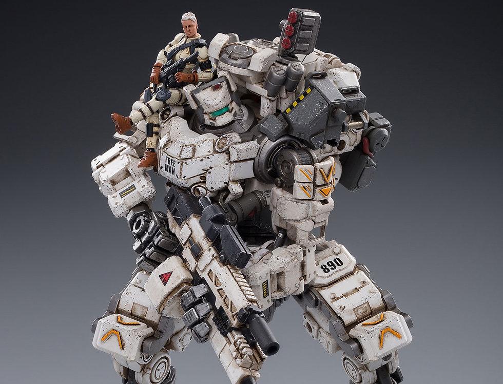 JoyToy Steelbone Armor (White) With Pilot 1/24 Scale Figure Set