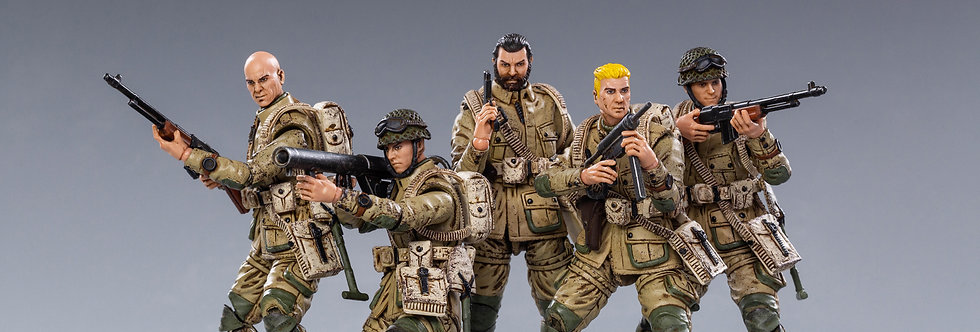 JOY TOY WWII WWII US Airborne Division  1/18 Scale Set of 5