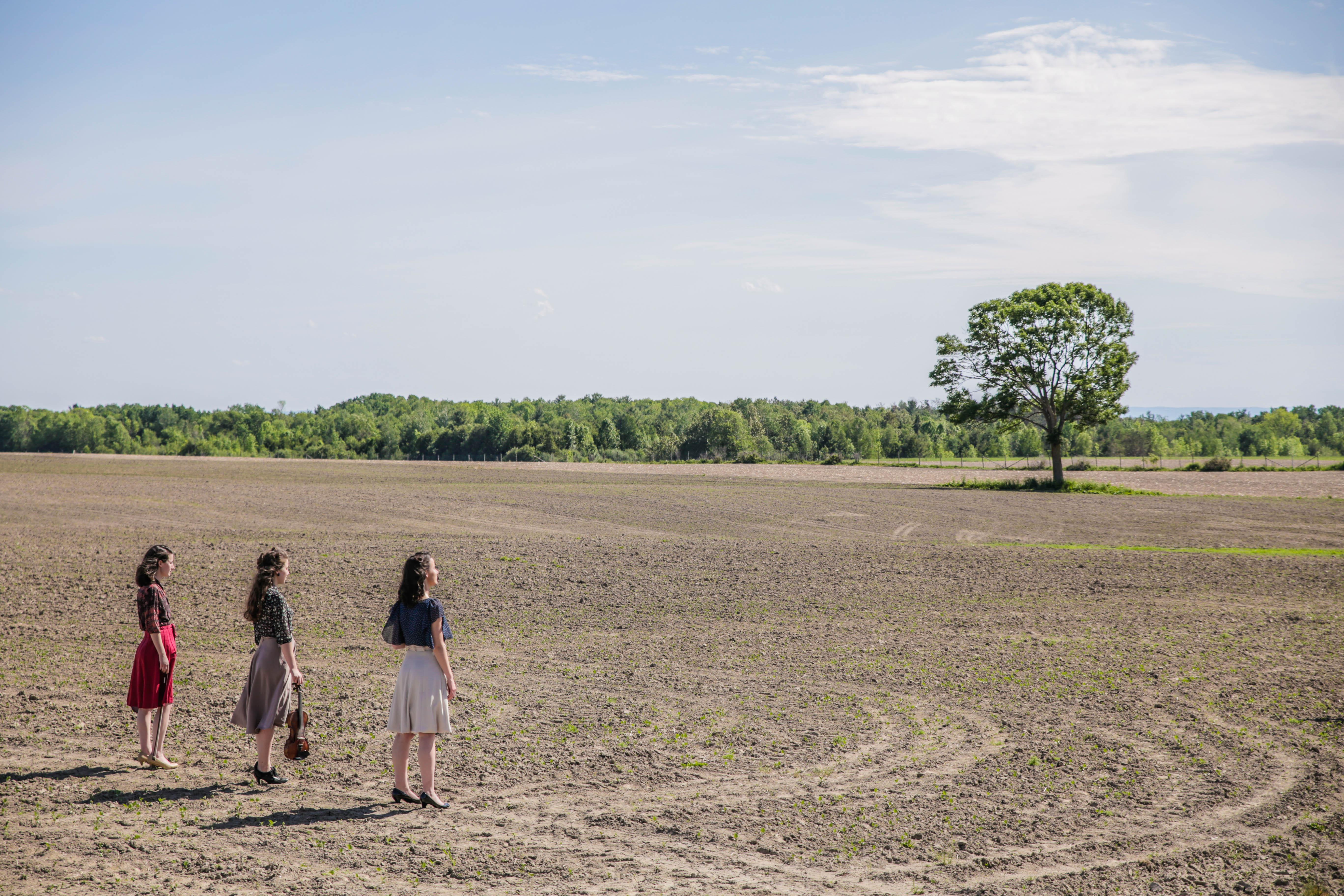 trois filles et arbre