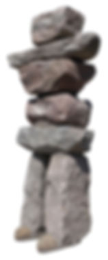 Inukshuk - stone feature by YourLandscaping