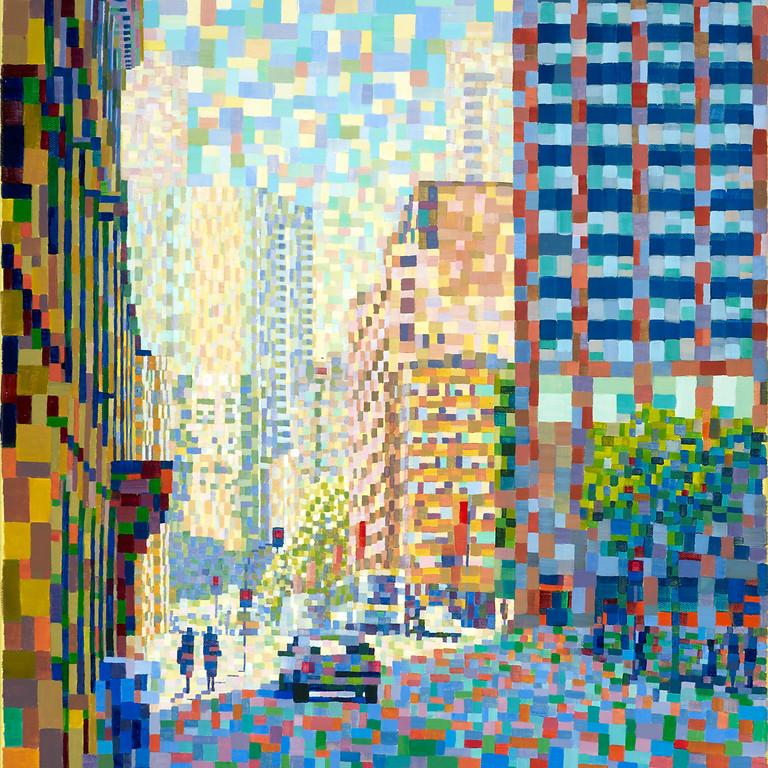 Meet the artist: 'Anonymous City' - Liz Chapman Art Show