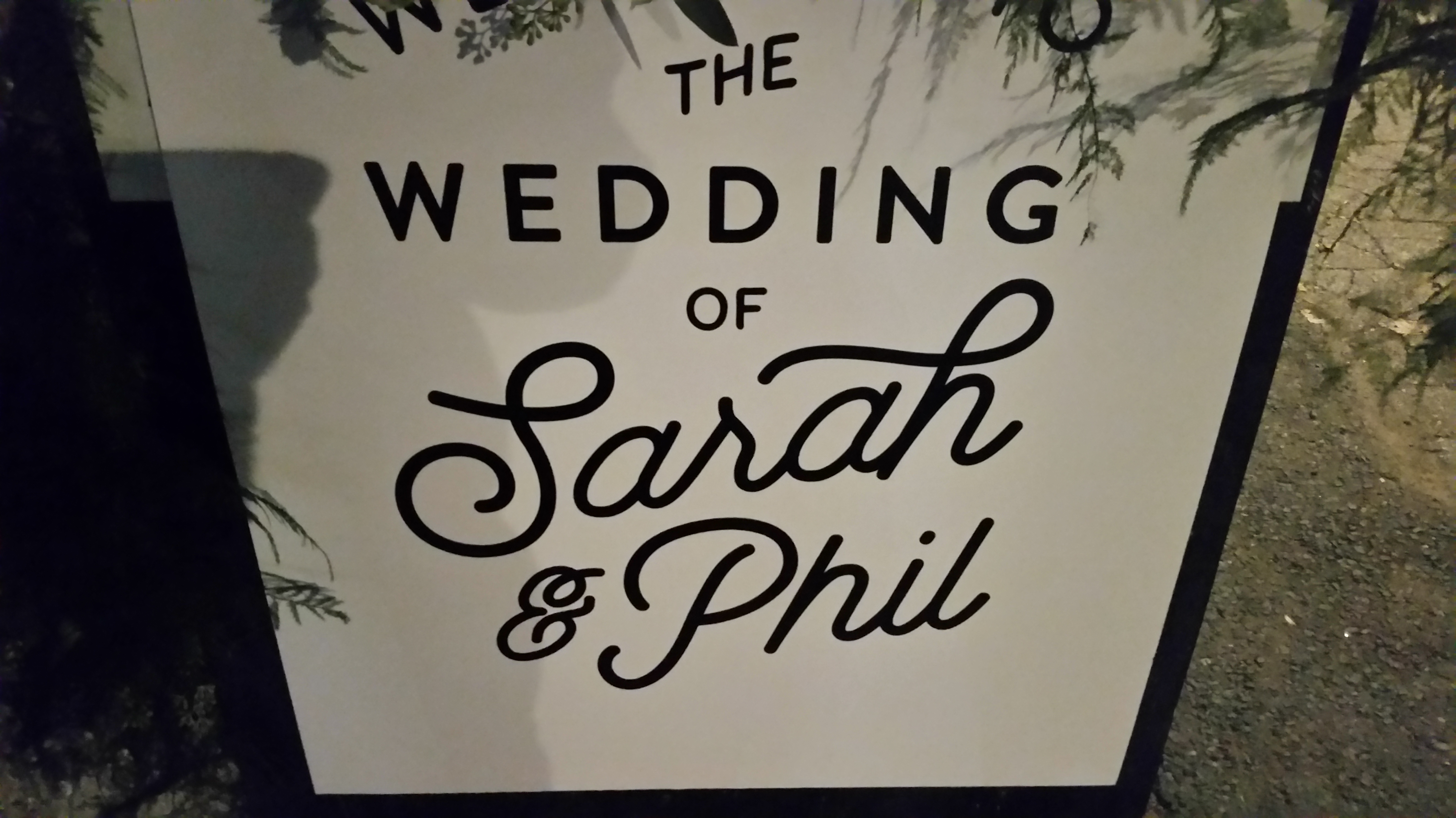 Phil and Sarahs wedding!