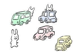 車とウサギ.JPG