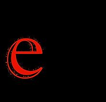 E-VAN Logo (red e, black van, with black