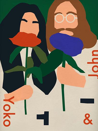 Yoko Ono John Lennon Anna Kovesces Illustration Mil X Magazine