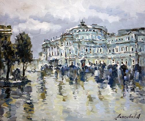 Mariinsky theatre, St.Petersburg, oil, canvas