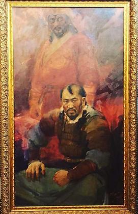 Genghis Khan, Otgoo Badam, oil canvas