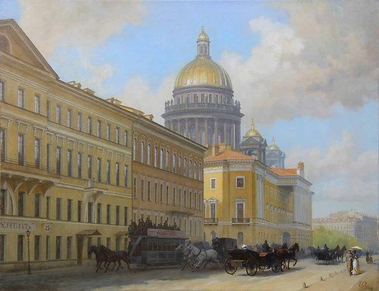 St.Petersburg, landscape, oil, canvas