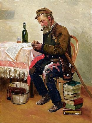 Antique dealer, a copy of the painting by K. E. Makovsky