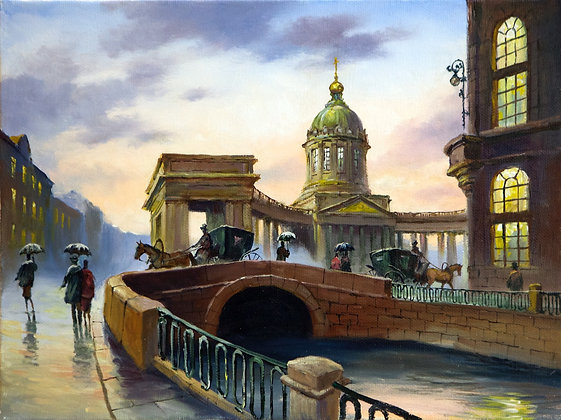 Kazan Cathedral, St. Petersburg, landscape