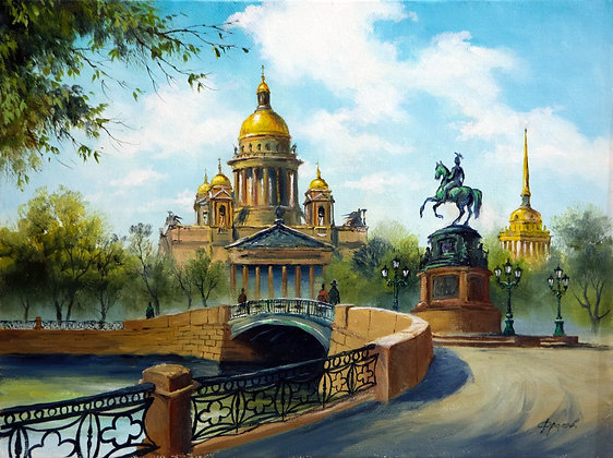 St. Isaac's Cathedral, Saint Petersburg, landscape