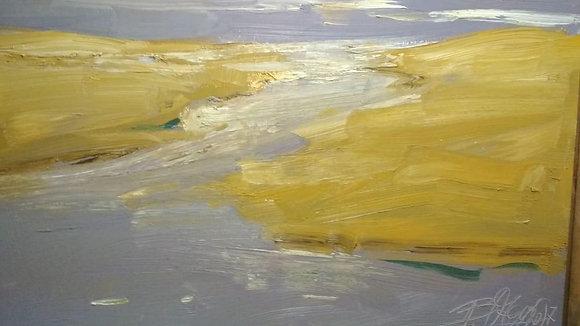 Otgoo Badam, Riverbed, oil, canvas