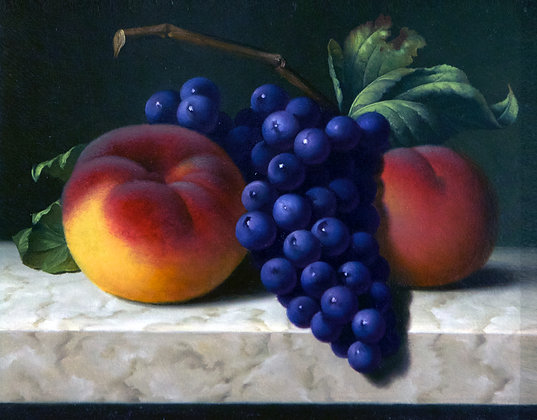 Still-life with grapes, oil, canvas