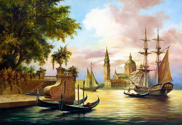 Venice, seascape, oil, canvas