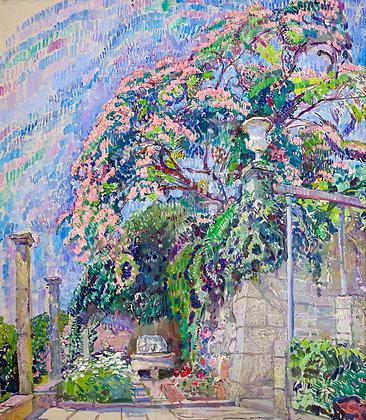 Acacia, landscape, oil, canvas
