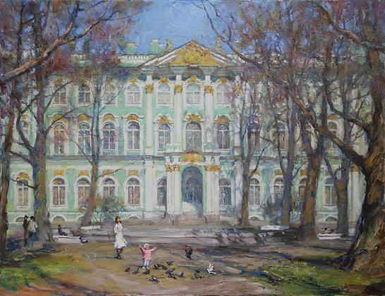Hermitage,Saint-Petersburg, landscape