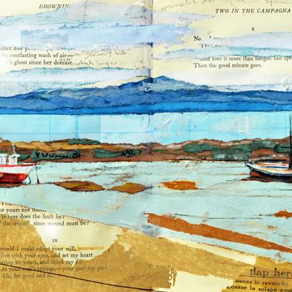 Boats on Morcambe beach