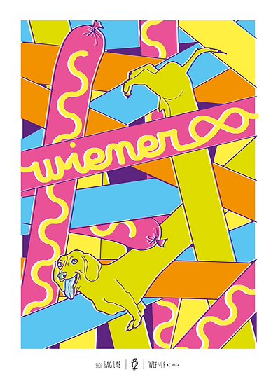 Wholesale - (Set of 3 prints) Wiener Forever