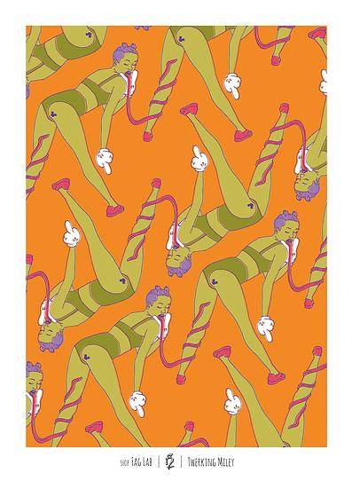 Wholesale - (Set of 3 prints) Twerking Miley