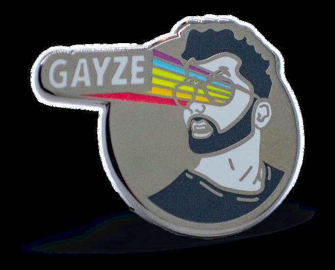 """""""GAYze"""" hard enamel pin"""
