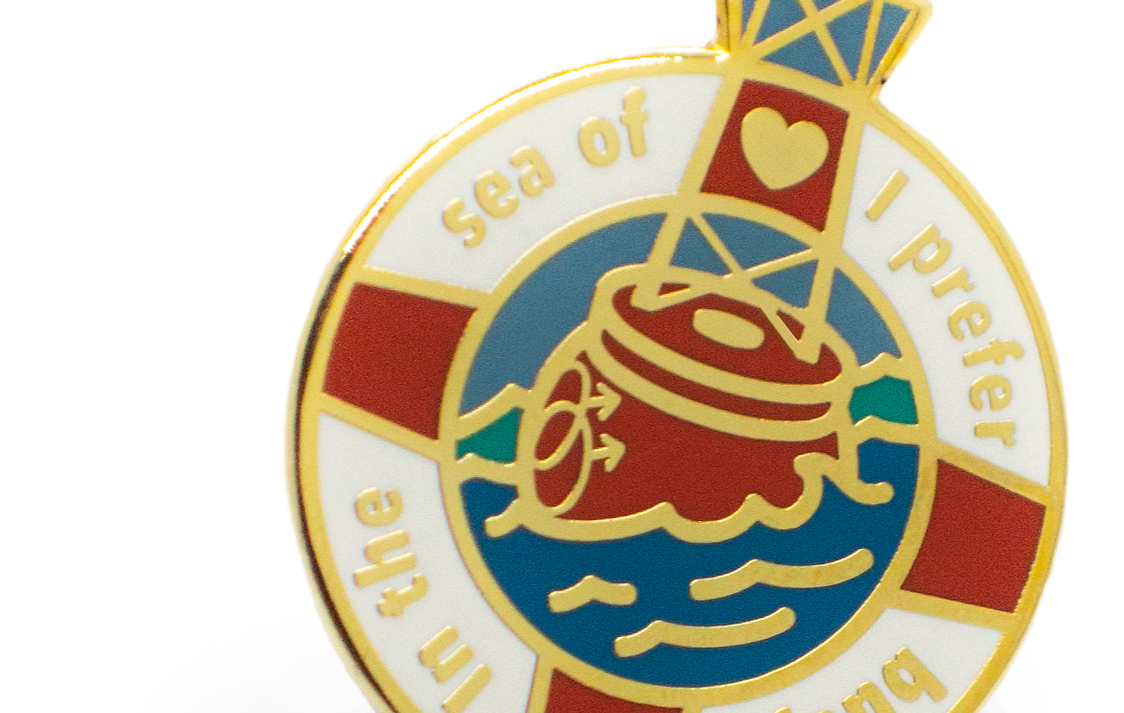 Prefer Buoys hard enamel pin