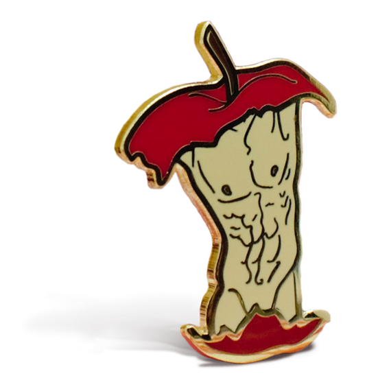 """""""Delicious to The Core"""" hard enamel pin"""
