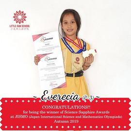 Everecia (P3-Science Sapphire Medal)