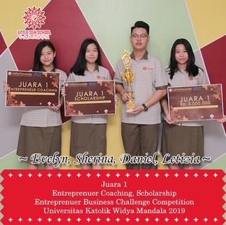 Evelyn, Sherina, Daniel, Letizia-Upper Secondary 1