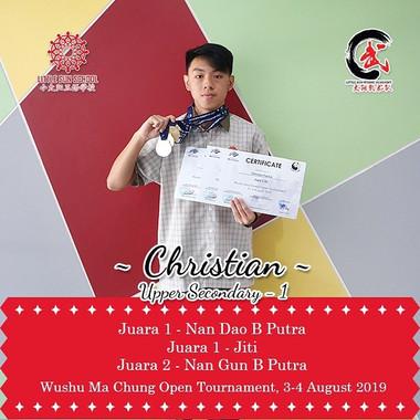 Christian Patrick - Upper Secondary 1