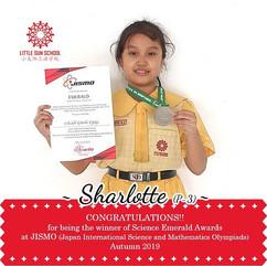 Sharlotte (P3- Science Emerald Medal)