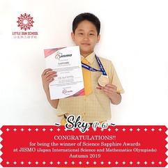 Sky (P6- Science Sapphire Medal)