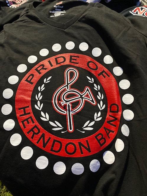 Short Sleeve V-Neck T-Shirt (large logo)