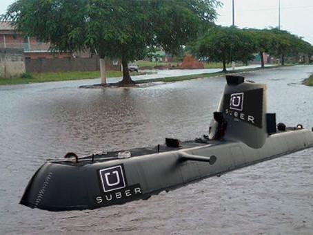 Devido a alagamentos, Uber vai operar com submarinos em Macaé